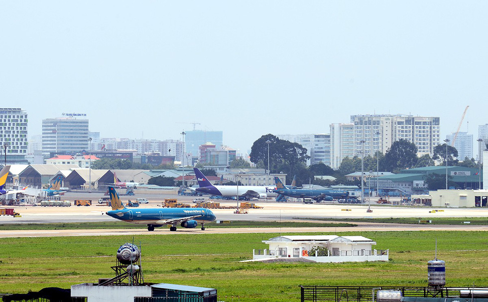 Khu vực dự kiến xây dựng nhà ga T3 tại sân bay quốc tế Tân Sơn Nhất, TP.HCM - Ảnh: TỰ TRUNG
