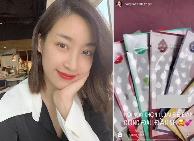 Hoa hậu Đỗ Mỹ Linh chuộng dùng mặt nạ giấy để chăm sóc da.