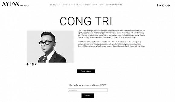60.Tuần lễ Thời trang New York Fashion Week 2020 công bố Công Trí - NTK Việt duy nhất được mời trình diễn BST