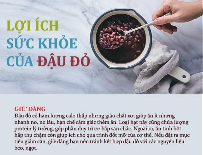 7. lợi ích của đậu đỏ