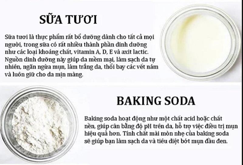 """Baking soda và sữa tươi được ví von là """"chuyên gia sắc đẹp"""""""