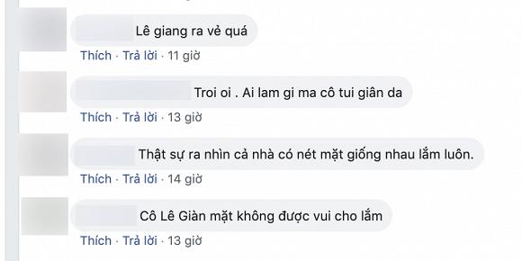 Cư dân mạng lẫn bạn bè đều nhận ra biểu cảm lạnh lùng và hơi buồn bã của Lê Giang