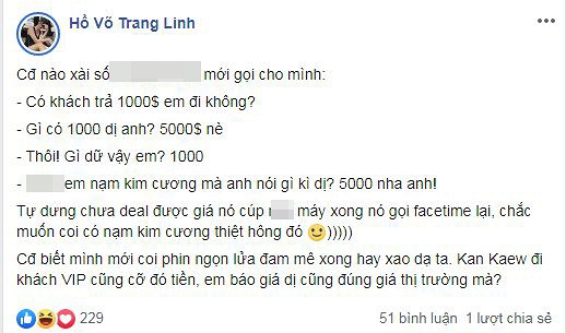 Phản ứng của bà xã Tiến Dũng (The Men) khi bị gạ đi khách giá 1000 USD.