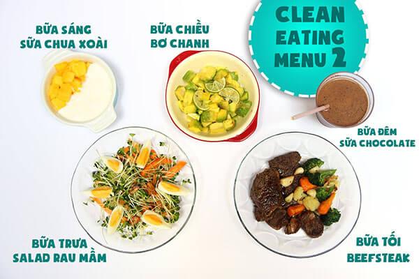 Nguyên tắc để chế biến những món eat clean là thay dầu ăn bình thường bằng dầu ô liu, hạn chế món chiên rán.
