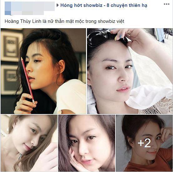 """Hoàng Thùy Linh được fan khen ngợi là """"Nữ thần mặt mộc trong showbiz Việt""""."""