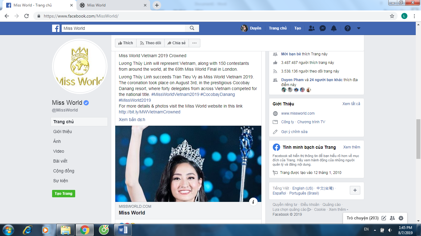 LUONG THUY LINH MISS WORLD (1)