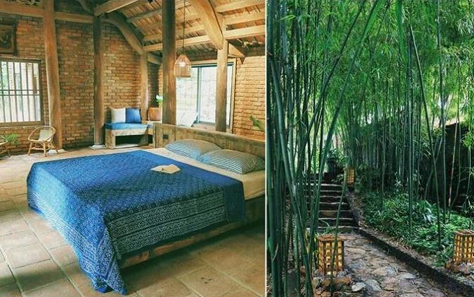 Rùa House Hilltop nằm ẩn giữa rừng tre xanh mướt, khung cảnh hoài cổ gợi nhớ về làng quê xưa.