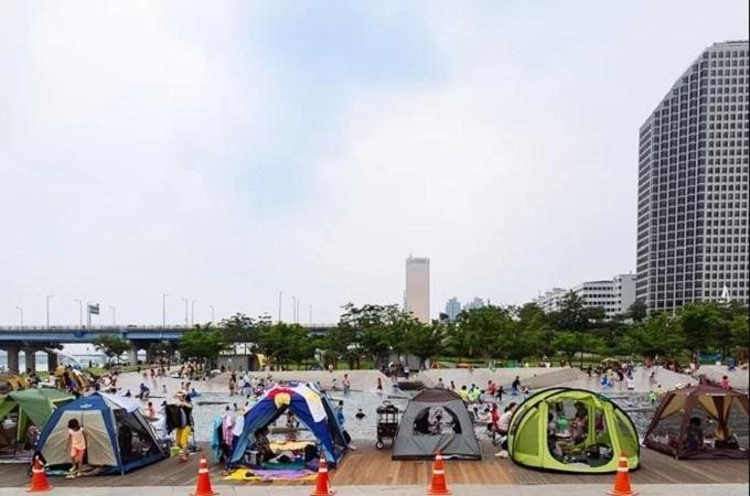 Cắm trại ở công viên Yeouido