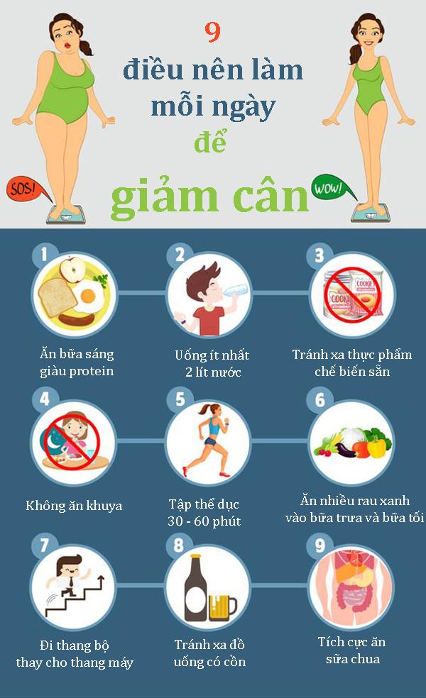 điều nên làm để giảm cân