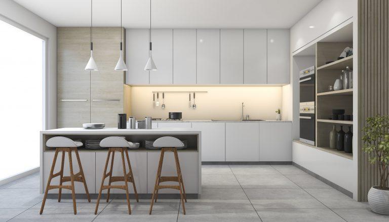 Scandinavia luôn là phong cách thiết kế phòng bếp nhà biệt thự cao cấp Châu Âu được rất nhiều người yêu thích bởi nét tinh tế trong từng chi tiết của căn phòng.