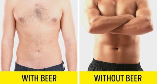 Uống bia, rượu  Nếu bạn muốn xây dựng cơ bắp, hãy từ bỏ thói quen uống bia, rượu sau khi tập.