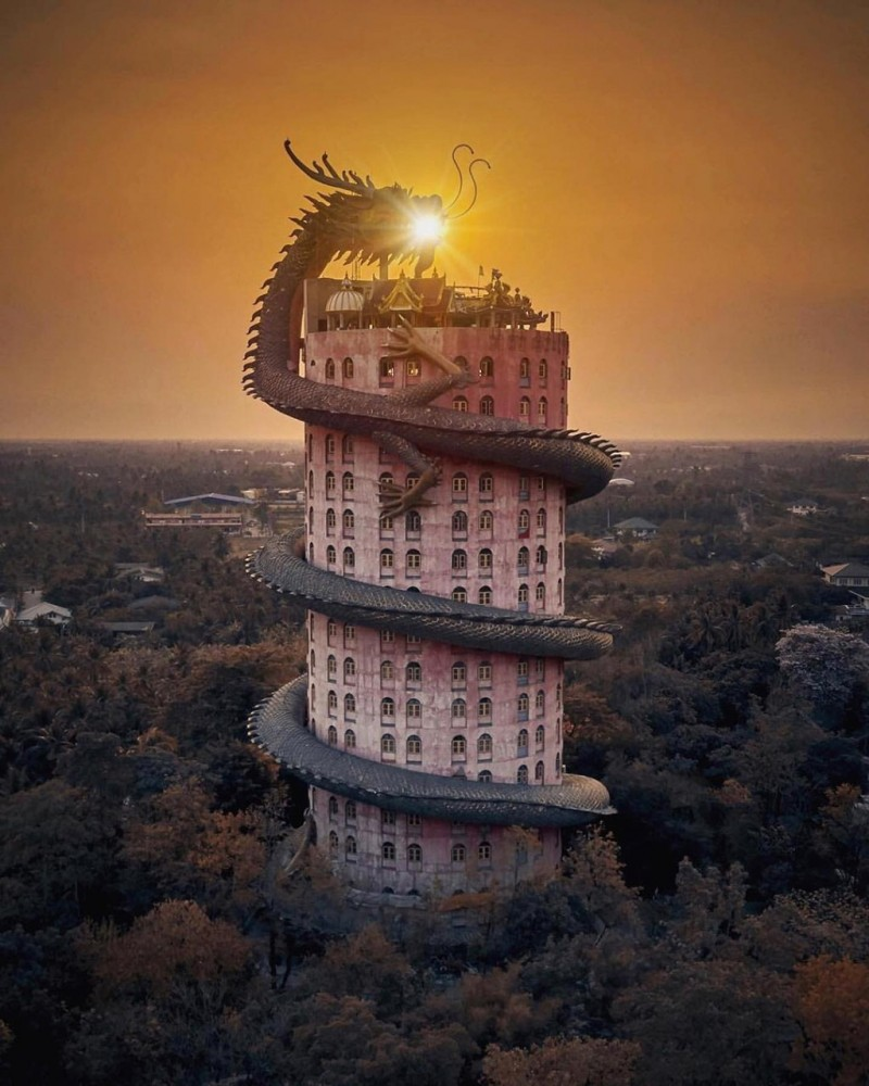16. Bí ẩn đằng sau ngôi chùa hồng có rồng khổng lồ quấn quanh3'