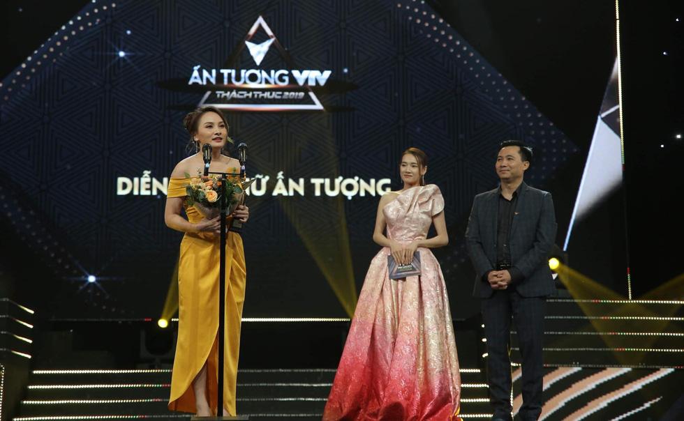 Diễn viên Bảo Thanh nhận giải Nữ diễn viên phim truyền hình ấn tượng của VTV Awards tối 7-9 - Ảnh: VTV