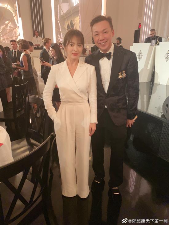 Song Hye Kyo và nhà thiết kế Trịnh Thiệu Khang.