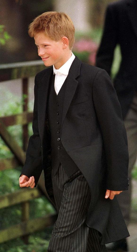 Hoàng tử Harry mặc đồng phục tương tự.