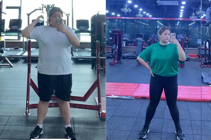 Ngoài đến phòng gym tập luyện với hướng dẫn của PT, Soo Bin cũng 'tự giác' đi bộ hoặc chạy mỗi tối.