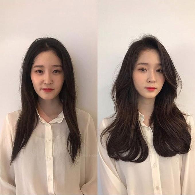 Để mái tóc dài không đơn điệu, nhàm chán, chị em nên thử uốn xoăn lọn to.