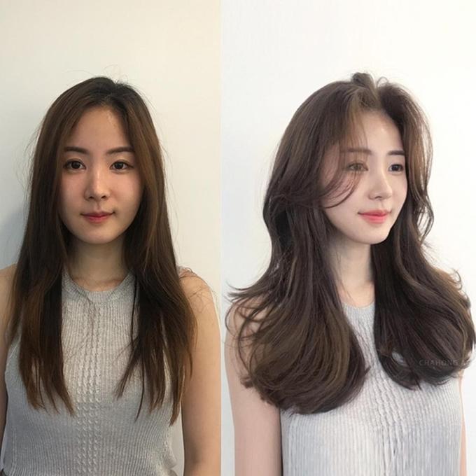 Ưu điểm của kiểu uốn này là giúp tăng độ dày và phồng cho tóc, rất thích hợp để những nàng tóc mỏng có cơ hội 'ăn gian'.