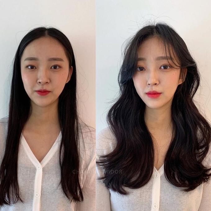 Tỷ lệ khuôn mặt cân đối hơn sau khi thay đổi kiểu tóc.