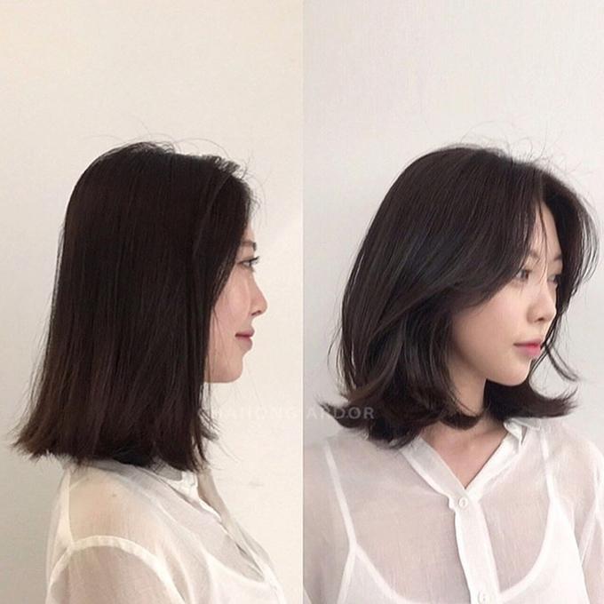 Các lọn tóc có thể vểnh ra ngoài ngẫu nhiên, mang đến vẻ phóng khoáng cho mái tóc.