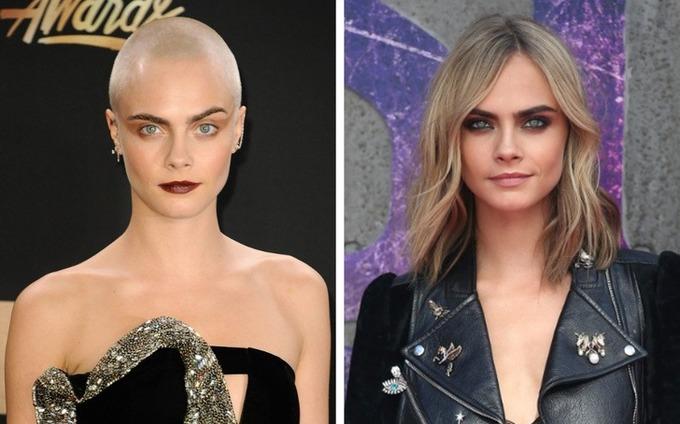 Để vào vai một cô gái bị ung thư trong phim Life in a year, Cara Delevigne đã cắt bỏ mái tóc dài ngang vai của mình.