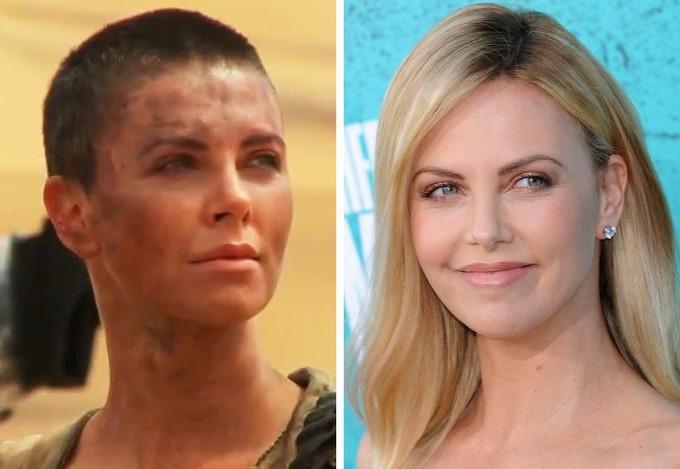 Charlize Theron đã chia tay mái tóc dài khi vào vai chiến binh Furiosa trong Mad Max: Fury Road. Thời điểm này cô thấy khá thoải mái khi không phải lo chuyện tóc tai mỗi sáng.