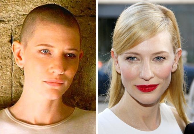 Tham gia diễn xuất trong phim Heaven (2002), Cate Blanchett cũng cắt phăng mái tóc dài.