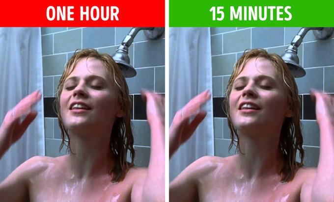 Không tắm quá lâu  Ngâm mình trong bồn tắm thư giãn là thói quen của nhiều người nhưng nó không tốt cho làn da. Ngâm nước quá lâu sẽ khiến làn da bị khô, kết cấu da lỏng lẻo, dễ xuất hiện nếp nhăn. Bạn chỉ nên tắm trong khoảng 15 phút.