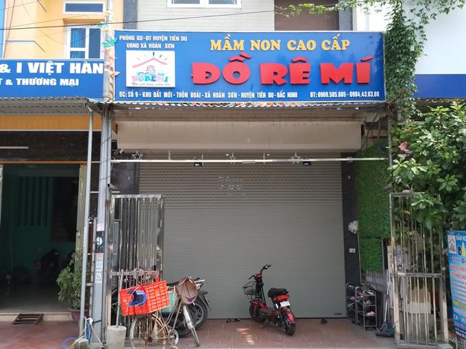 Cơ sở mầm non tư thục Đồ Rê Mí ở huyện Tiên Du, Bắc Ninh. Ảnh: Thúy Quỳnh.