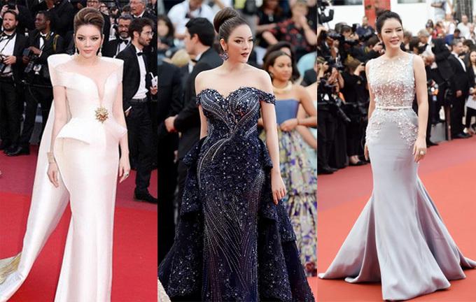 Khi bước trên thảm đỏ liên hoan phim Cannes danh giá, lãnh sự danh dự Rumania tại TP HCM thường diện những bộ váy dạ hội ôm sát đuôi cá hay có phần thân được thiết kế cầu kỳ, chọn phong cách trang điểm tạo điểm nhấn vào mắt và môi, tóc bới cao, để thể thể hiện sự sang trọng.