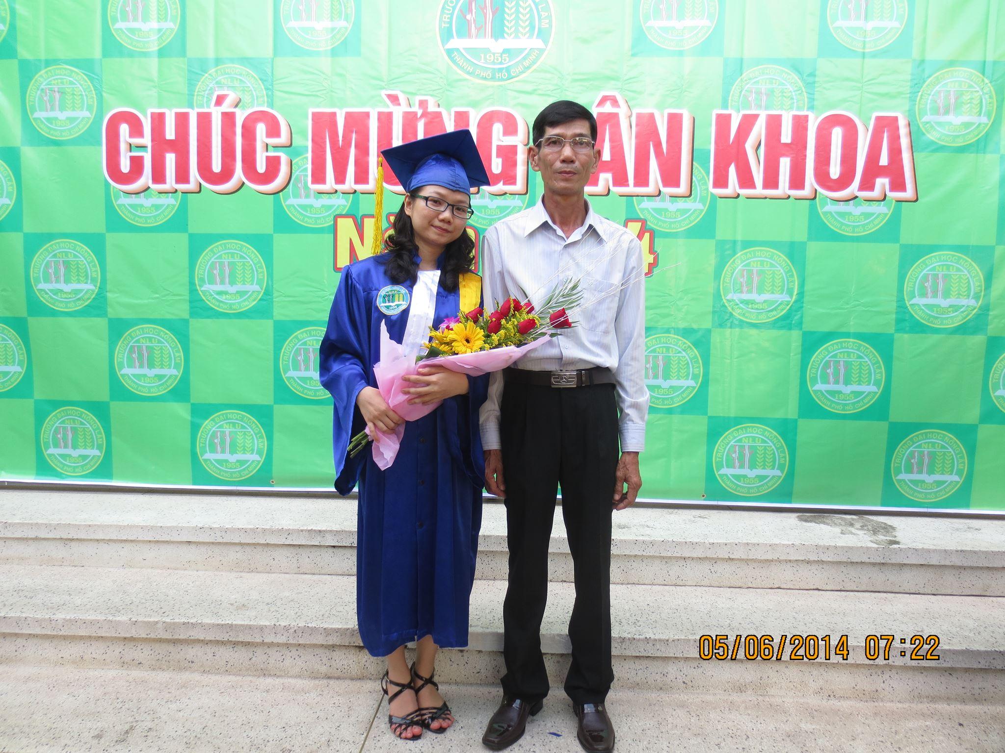 Chị Đặng Thị Như Hà trong ngày tốt nghiệp đại học