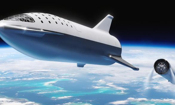 Mẫu tàu không gian Starship chinh phục sao Hỏa vừa được tỉ phú Elon Musk giới thiệu cách đây hai tuần - Ảnh: SPACEX