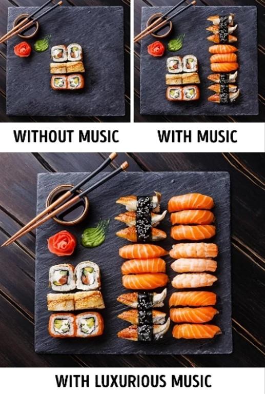"""Đầu tư âm nhạc Theo nghiên cứu, thực khách có xu hướng ăn nhiều hơn khi sống trong môi trường có âm nhạc du dương. Khi đó, hệ thần kinh cảm thấy thư thái, thoải mái, hệ tiêu hoá hấp thụ tốt, giúp bạn có cảm giác ăn ngon miệng và muốn ăn thêm. Thậm chí, với nhạc giao hưởng hay nhạc cổ điển - loại nhạc cao cấp hơn thì thực khách sẵn sàng chi tiêu nhiều hơn 10% để trả cho """"đẳng cấp"""" của bữa ăn đó. Ngoài ra, mỗi loại nhạc cũng phù hợp với các phong cách ẩm thực khác nhau: nhạc Pháp phù hợp để bán rượu vang, dân ca Ireland thích hợp để bán bia."""