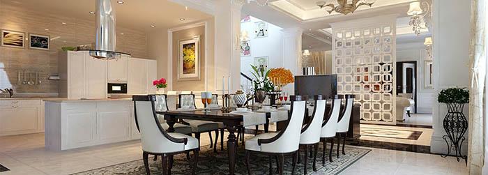 Mẫu này sẽ rất phù hợp với không gian nhà hiện đại, nội thất bếp, đến nội thất phòng ăn đều được trang bị cao cấp, tôn lên đẳng cấp đỉnh cao.