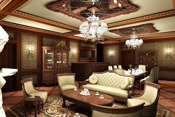 Mẫu phòng bếp cổ điển đẹp dành cho nhà biệt thự 04