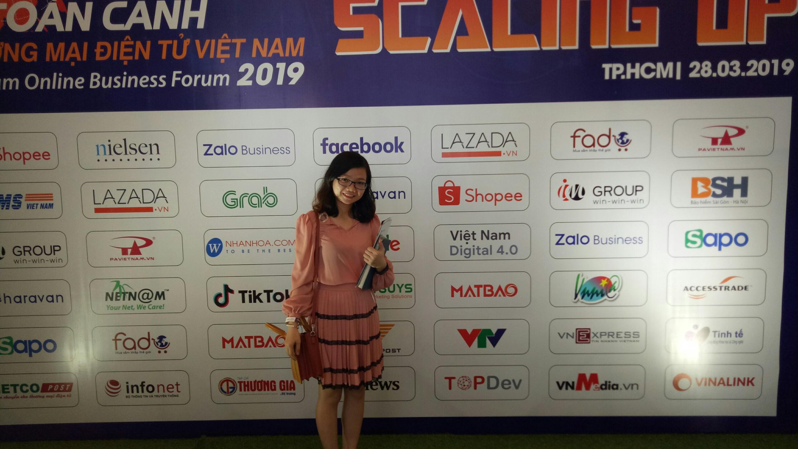 Chị Đặng Thị Như Hà tham gia các hội thảo