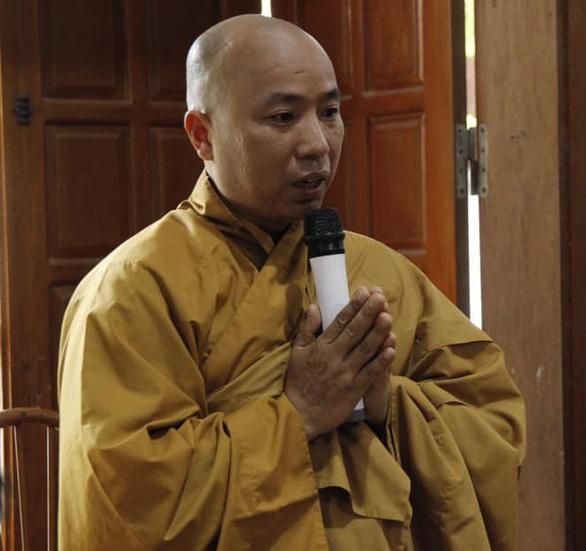 Đại đức Thích Thanh Toàn trong cuộc họp ngày 5-10 - Ảnh: Giáo hội Phật giáo VN tỉnh Vĩnh Phúc