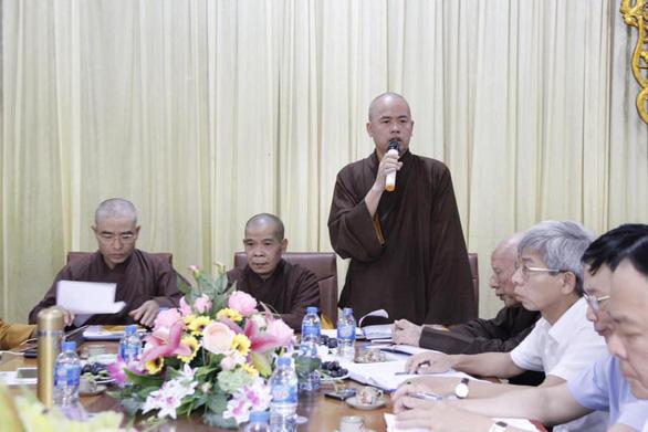 Cuộc họp của Ban trị sự Giáo hội Phật giáo Vĩnh Phúc với các cơ quan chức năng về thầy Toàn hôm 5-10 - Ảnh: Giáo hội Phật giáo VN tỉnh Vĩnh Phúc