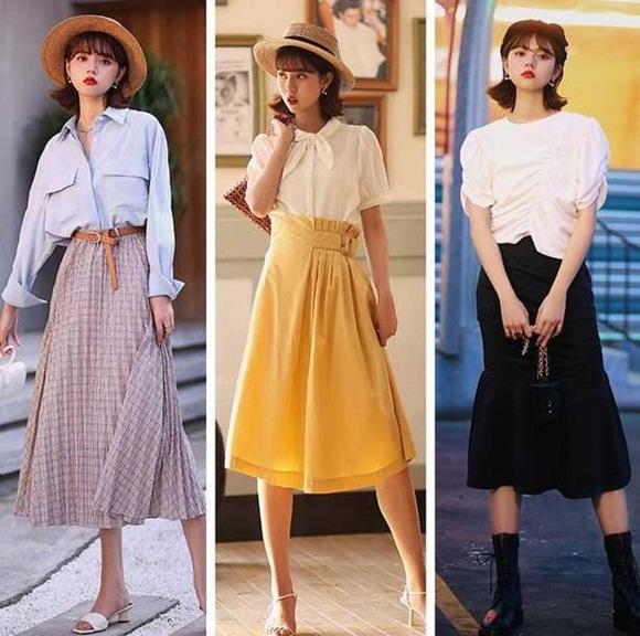 Bộ đôi áo sơ mi thanh lịch kết hợp chân váy chưa bao giờ bị lỗi mốt. Bạn sẽ toát lên nét cổ điển, nhẹ nhàng nhưng vẫn phảng phất hơi hướng hiện đại.