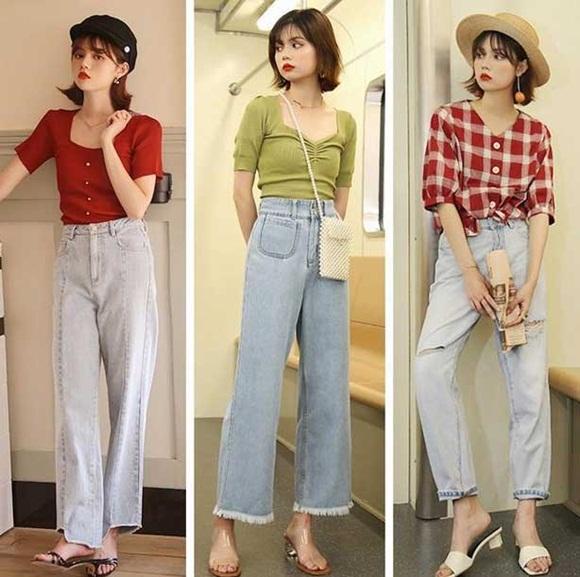 """Quần jeans dáng rộng sẽ giúp bạn trở nên cá tính, hiện đại hơn bao giờ hết. Ngày đi chơi, đi học hay đi làm bạn có thể """"đổi gió"""" với chiếc quần hấp dẫn này."""
