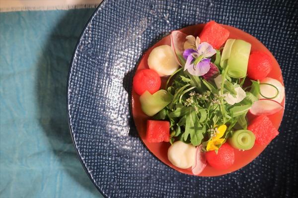 V-Fromage de chevre and watermelon