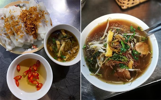 """Bánh cuốn và cháo lươn được Tóc Tiên khen """"ngon nhức nách""""."""