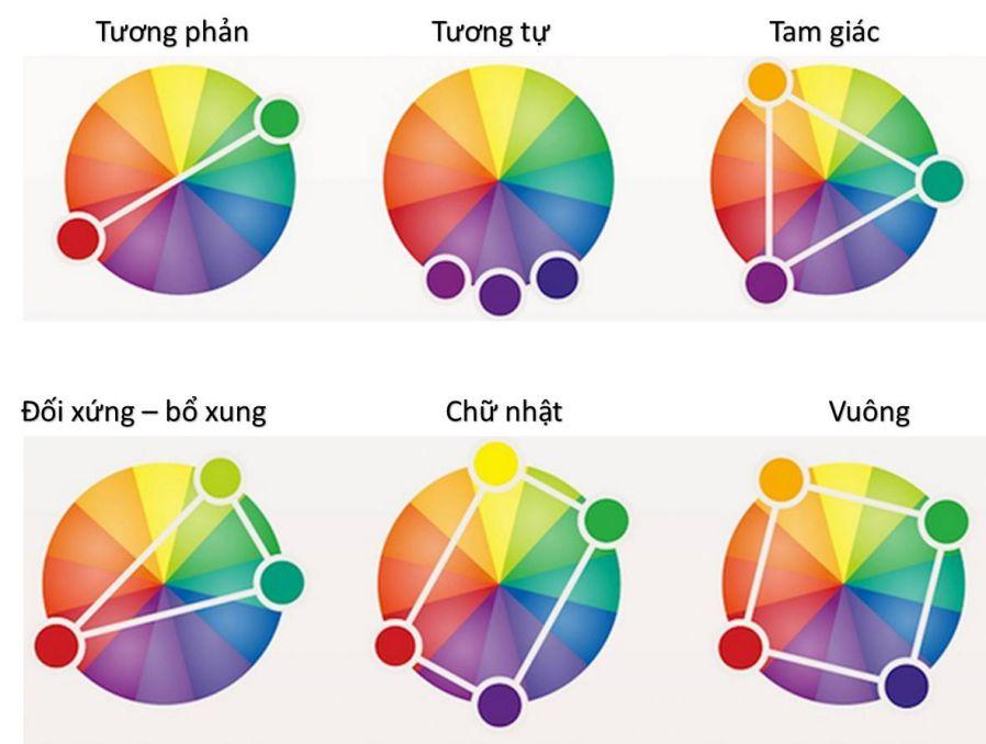 Bánh xe màu sắc là nền tảng cơ bản trong thiết kế nội thất, trang trí nhà.