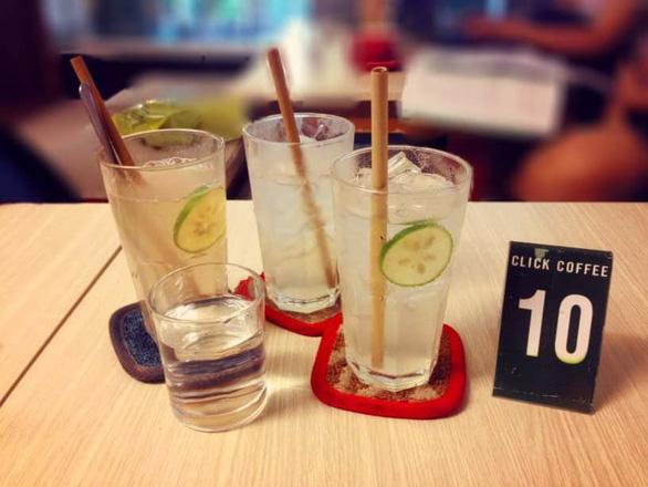 Một quán cà phê ở Đà Nẵng nói không với đồ nhựa dùng một lần - Ảnh: Nhóm Green Hero