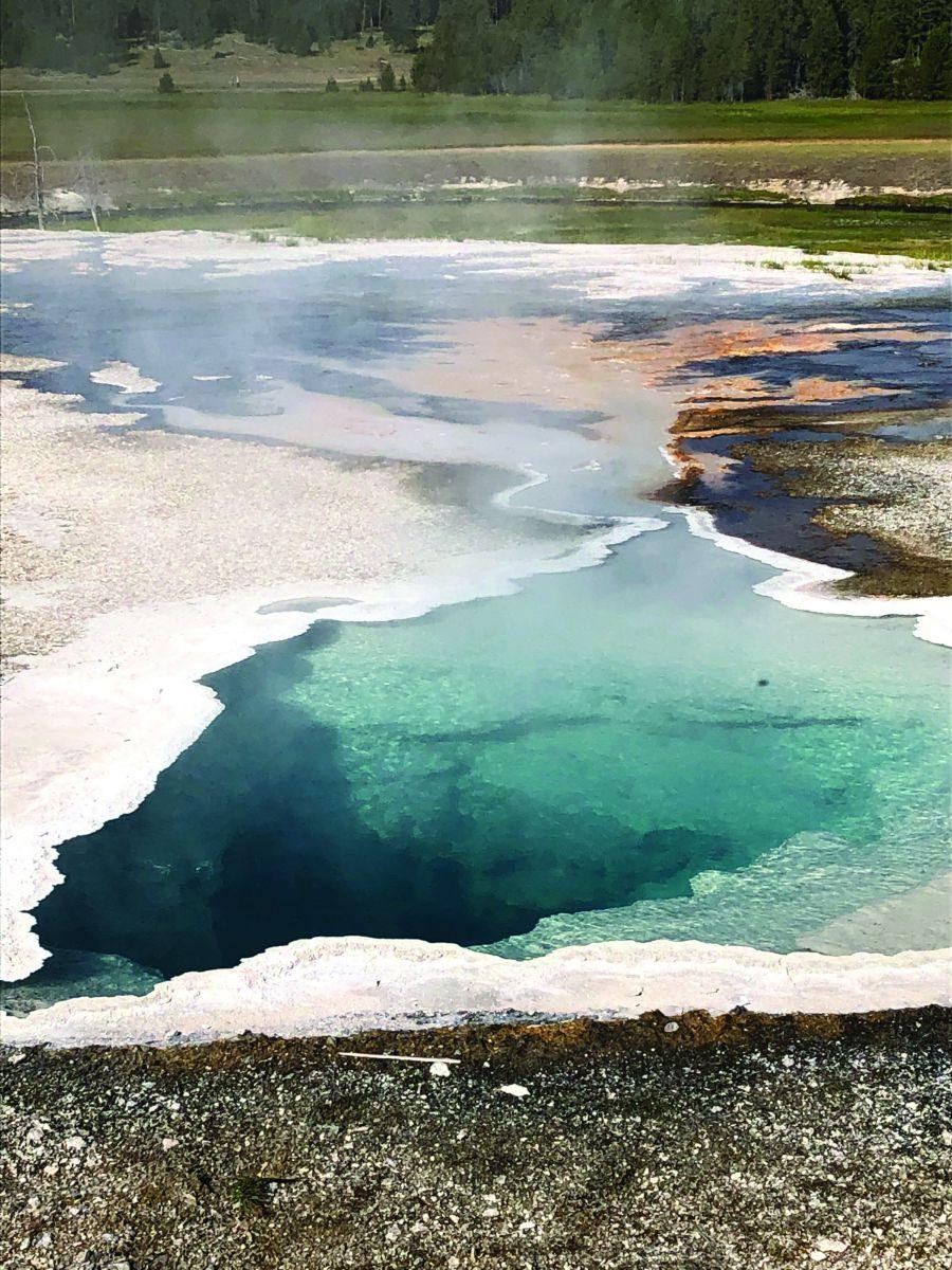 Nằm trên một cao nguyên có độ cao trung bình gần 2500m so với mực nước biển, Yellowstone có 96% diện tích thuộc về bang Wyoming, phần nhỏ còn lại nằm trên 2 bang Montana và Idaho. Khu bảo tồn dẫn chúng tôi đi từ bất ngờ này đến bất ngờ khác. Từ hàng trăm suối nước nóng và các điểm địa nhiệt đang sôi sùng sục đến những cánh rừng bát ngát thông reo ở khu vực cận núi cao; từ những thung lũng Heyden bạt ngàn hoa cỏ đến những mặt hồ Yellowstone phẳng lặng mênh mông rồi bỗng chốc lại chuyển sang những thác nước thét gào. Rừng rậm, rừng thưa, đầm lầy, đồng cỏ, vực thẳm, núi tuyết và hoang mạc cứ đan cài; tưởng như nơi này có thể trở thành một trái đất thu nhỏ trong diện tích gần 9000km2.