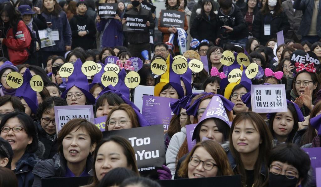 Phong trào #MeToo nổi lên ở Hàn Quốc vào năm ngoái. Ảnh: David Lee.
