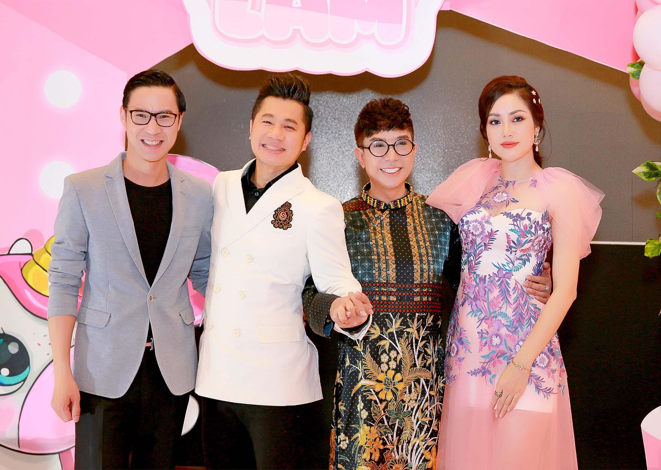 MC Anh Quân, Lâm Vũ, ca sĩ Long Nhật và Huỳnh Tiên