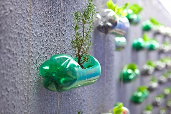 trang trí nhà với chai nhựa2