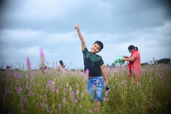 Các em tha hồ chụp ảnh, vui chơi bên người thân và gia đình tại cánh đồng hoa đặc biệt này - Ảnh: LÂM THIÊN