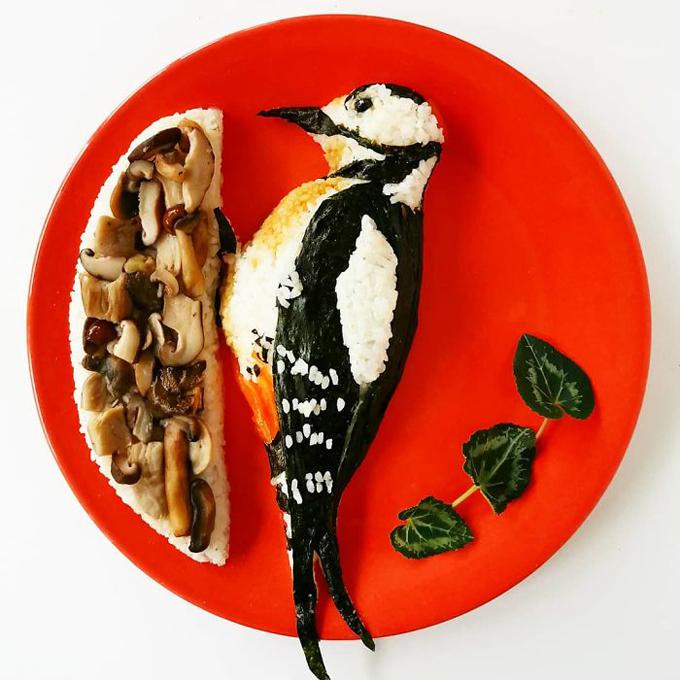 Nghệ thuật tạo hình đĩa thức ăn hình con vật10
